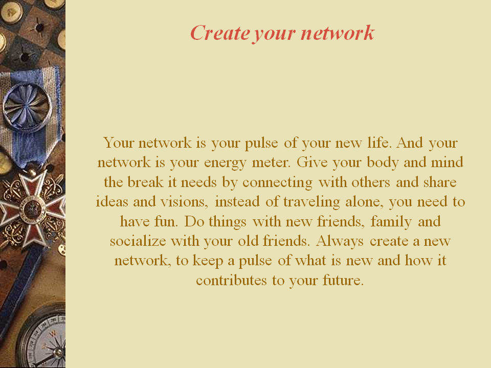 Create Your Network