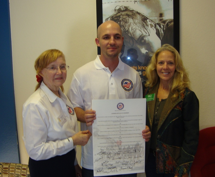Frances Lowe - Dan Suklja - Gail Martin Fallbrook CA Honorary Mayor