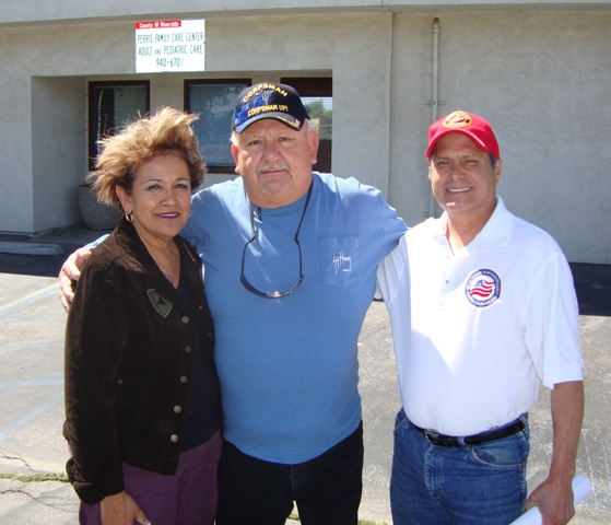 Mrs & Mr Anthony Espinosa VFW Veteran Service Officer - Albert Guzman