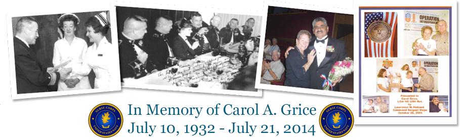In memory of Carol Grice