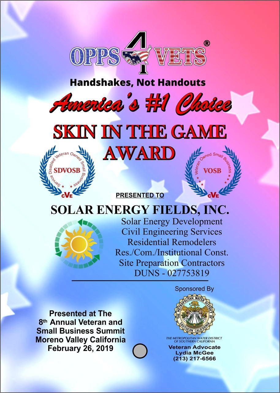 Solar Energy Fields Inc